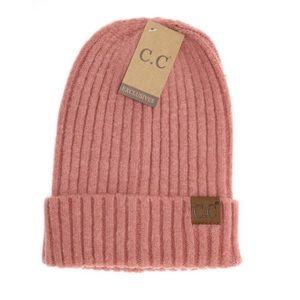 CC Boutique Accessories - NEW • dusty pink cc beanie